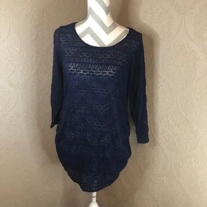 Jessica Simpson maternity top tunic navy XL